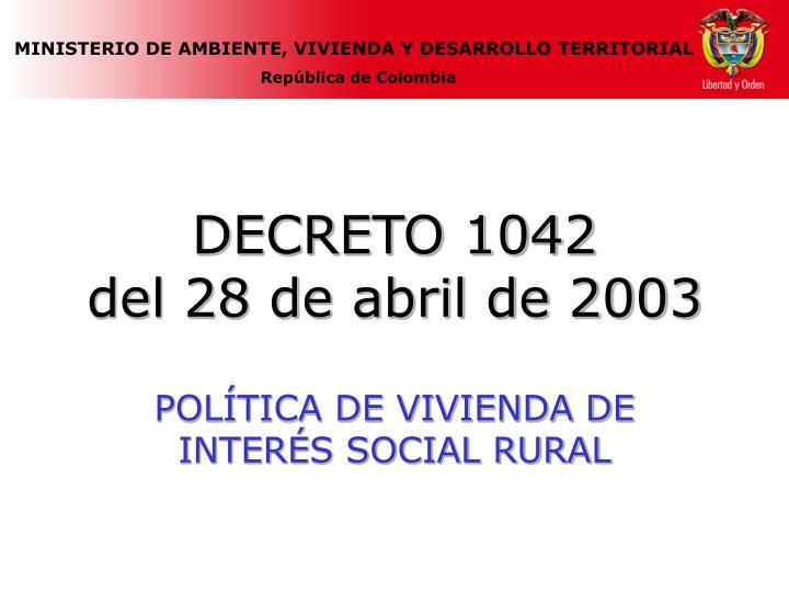 DECRETO 1042