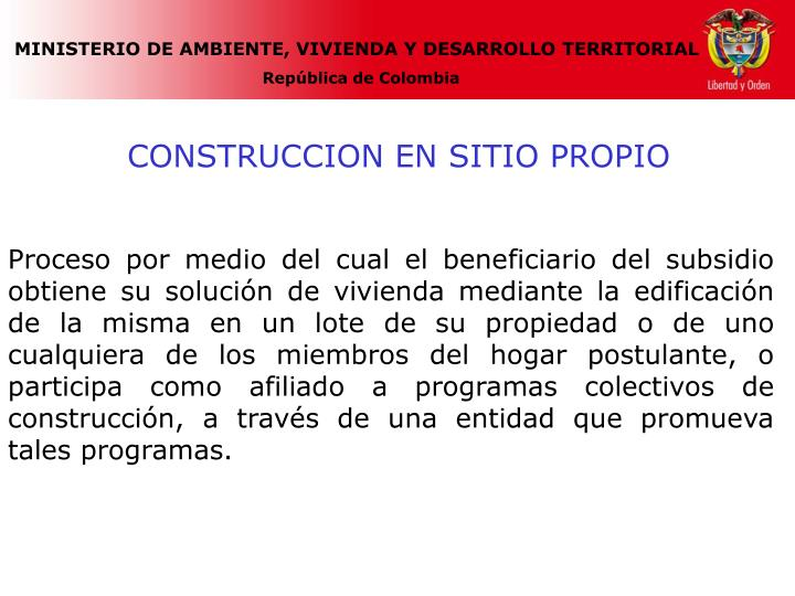 CONSTRUCCION EN SITIO PROPIO