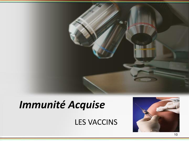 Immunité Acquise
