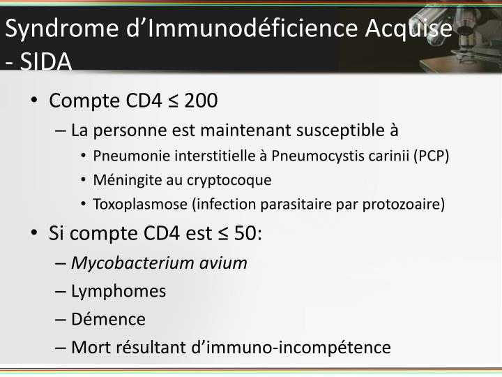 Syndrome d'Immunodéficience Acquise