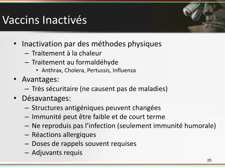 Vaccins Inactivés