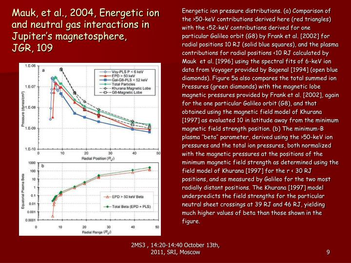 Mauk, et al., 2004, Energetic ion and neutral gas interactions in