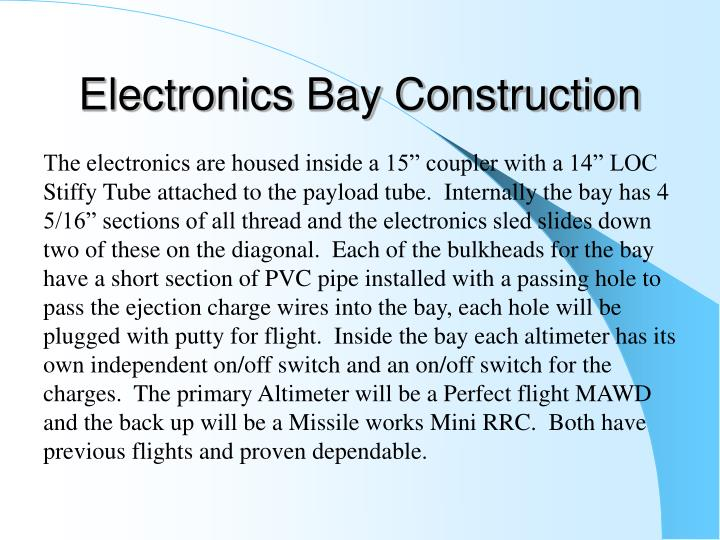 Electronics Bay Construction