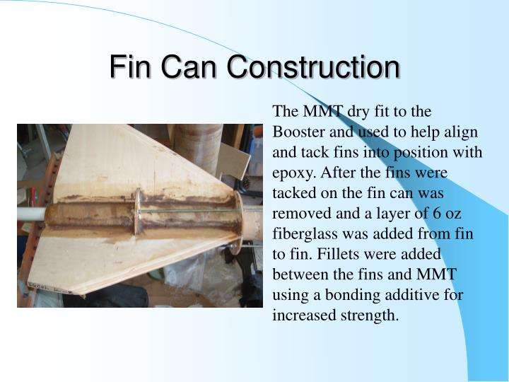 Fin Can Construction