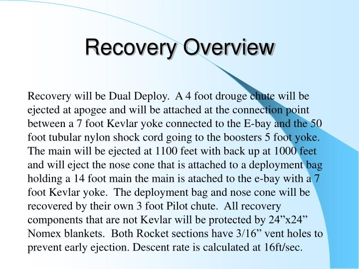Recovery Overview
