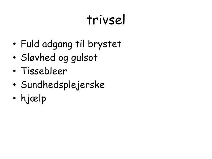 trivsel