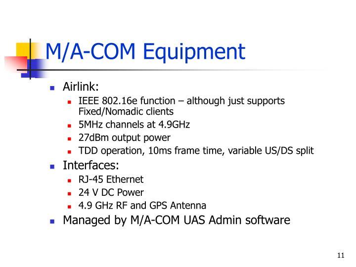 M/A-COM Equipment