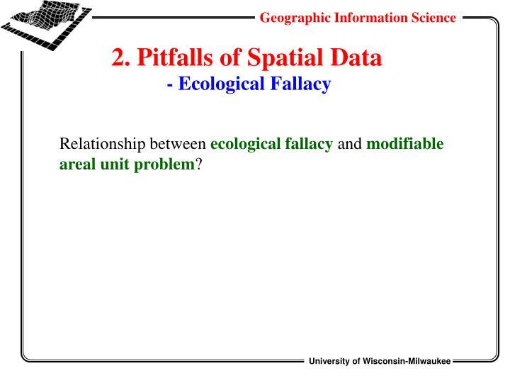 2. Pitfalls of Spatial Data