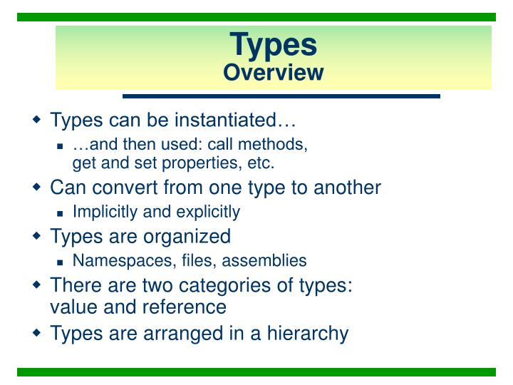 Types overview2