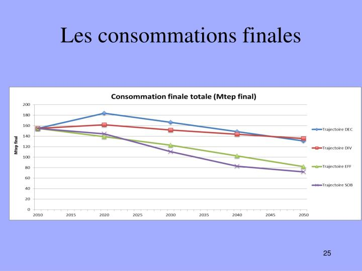 Les consommations finales