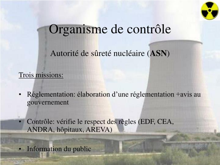 Organisme de contrôle