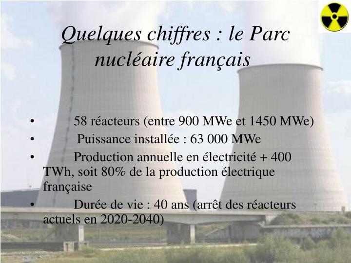 Quelques chiffres: le Parc nucléaire français