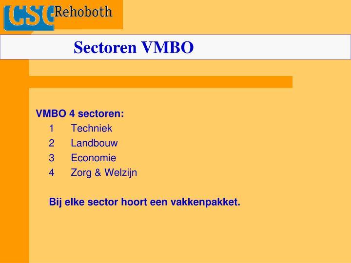 Sectoren VMBO