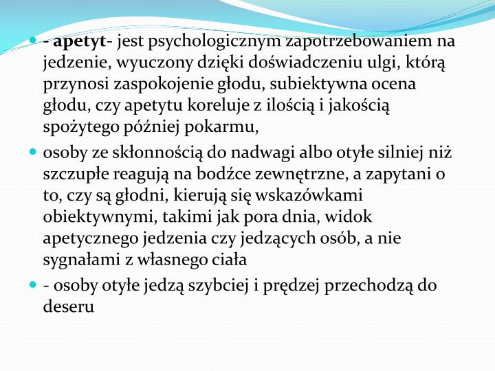 - apetyt