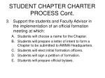 student chapter charter process cont