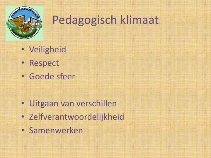 Pedagogisch klimaat