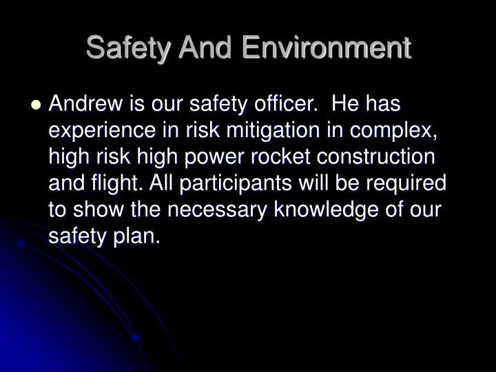 Safety And Environment