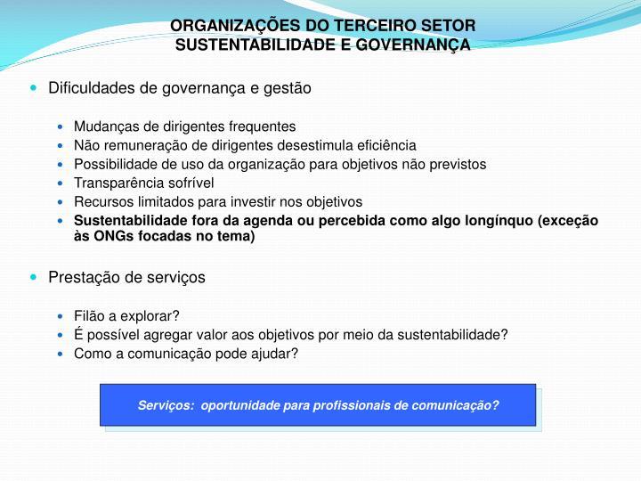 ORGANIZAÇÕES DO TERCEIRO SETOR