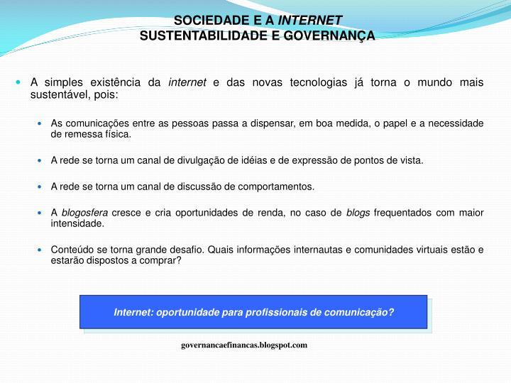 SOCIEDADE E A