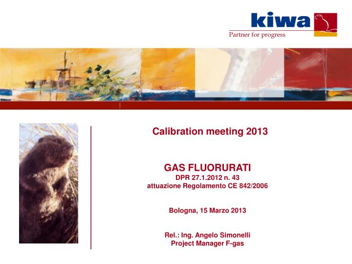 Calibration meeting 2013