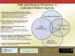 pwr and dropout prevention in colorado s reform agenda