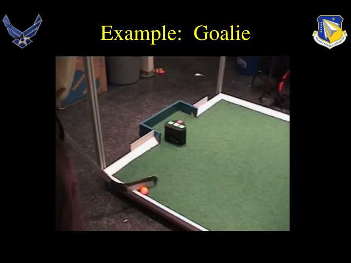 Example:  Goalie
