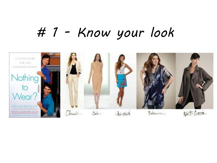 # 1 - Know your look