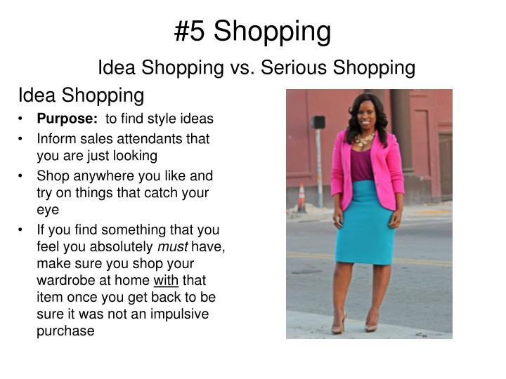 #5 Shopping