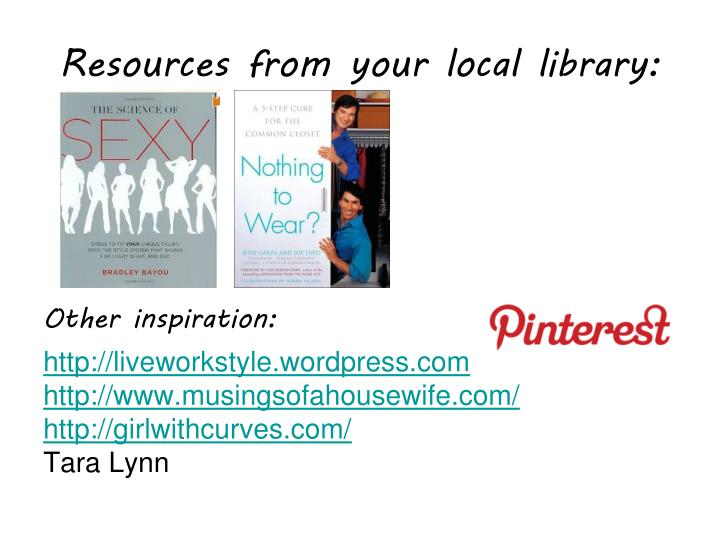 Resources from your local library: