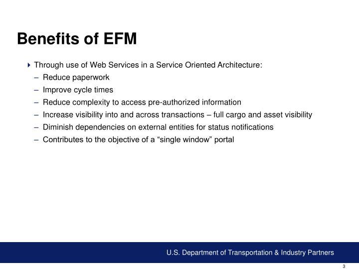 Benefits of EFM