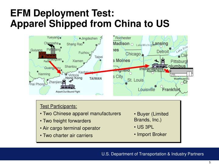 EFM Deployment Test: