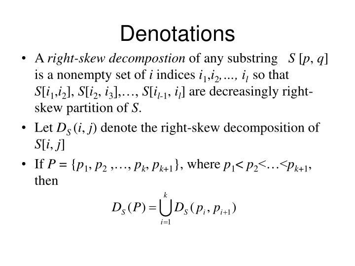 Denotations