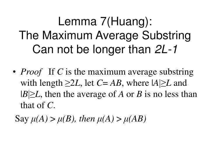 Lemma 7(Huang):