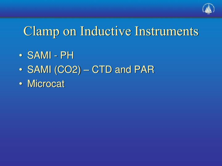 Clamp on Inductive Instruments