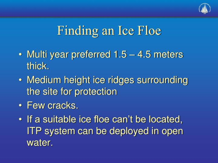 Finding an Ice Floe