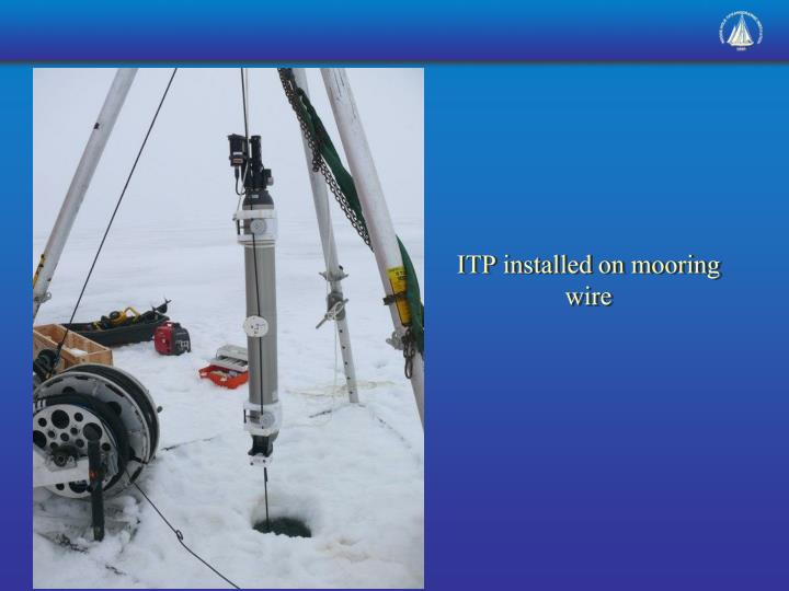 ITP installed on mooring wire