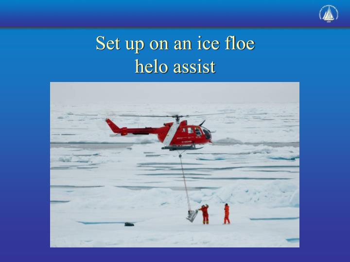 Set up on an ice floe