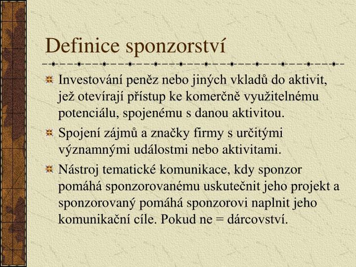 Definice sponzorství
