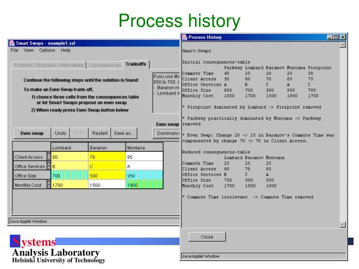 Process history