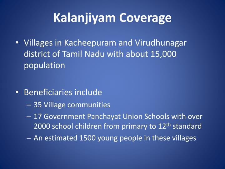 Kalanjiyam Coverage