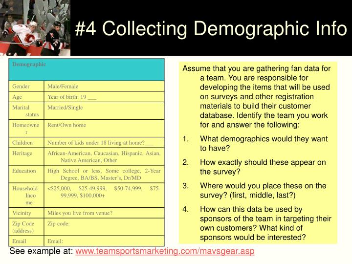 #4 Collecting Demographic Info