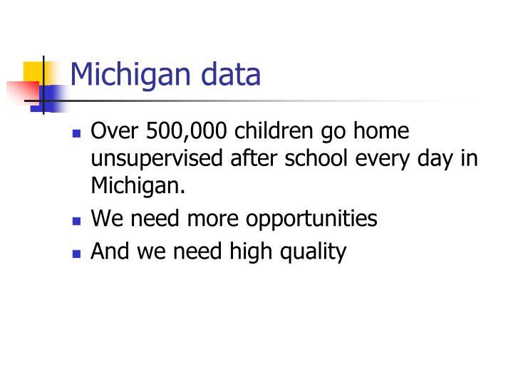 Michigan data