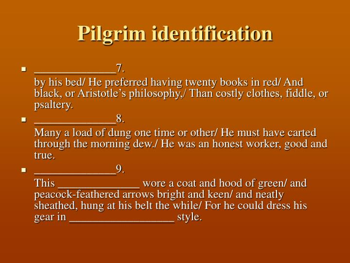 Pilgrim identification