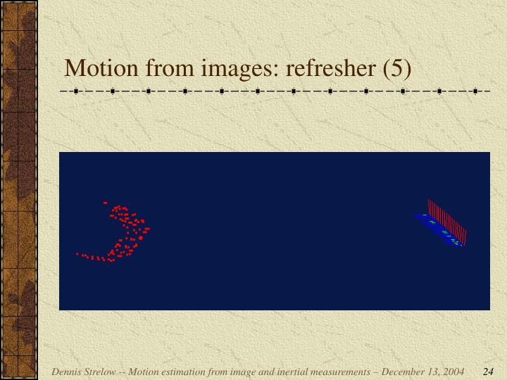 Motion from images: refresher (5)