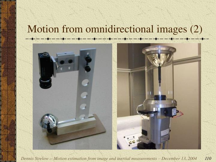 Motion from omnidirectional images (2)