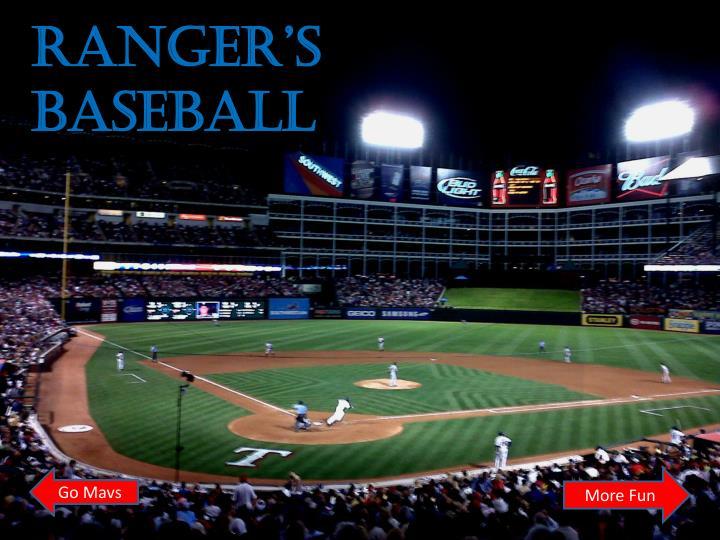 Ranger's Baseball