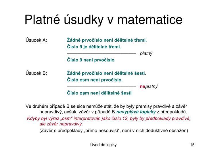 Platné úsudky v matematice