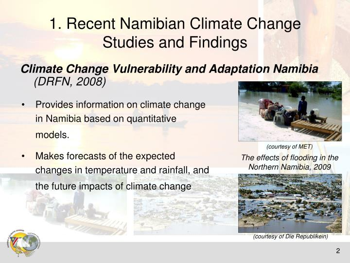 1. Recent Namibian Climate Change Studies and Findings