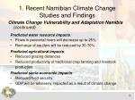1 recent namibian climate change studies and findings2