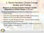 2 recent namibian climate change studies and findings1